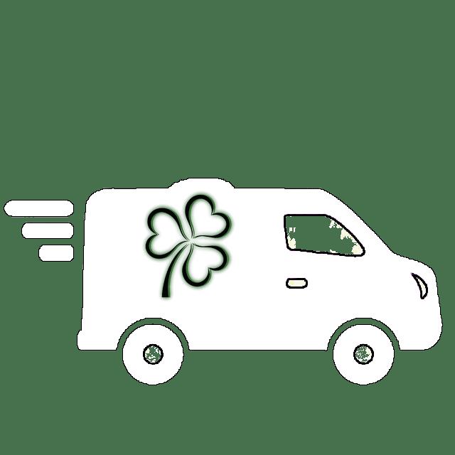 Furgone per la consegna a domicilio di piante e fiori a Rimini e provincia.